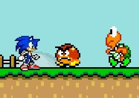 Игра Sonic in Mario World II
