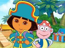 Игра Dora Pirate Boat Treasure Hunt