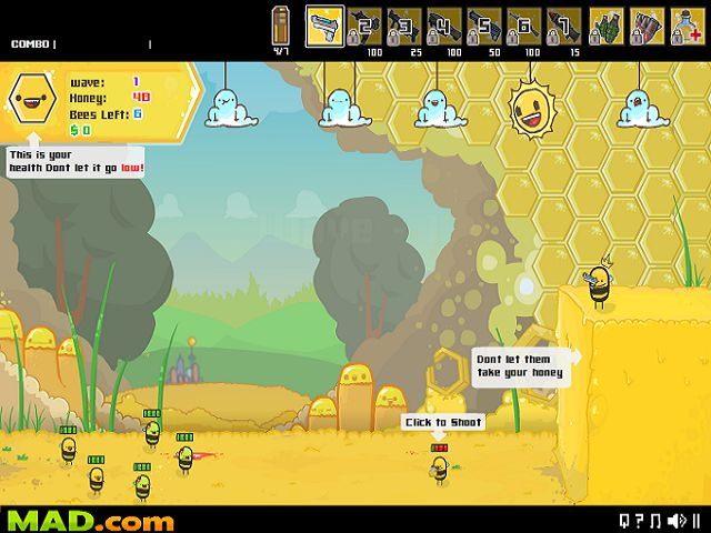 Игра Angry Bees