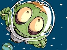 Игра Zombie Heading to the Moon